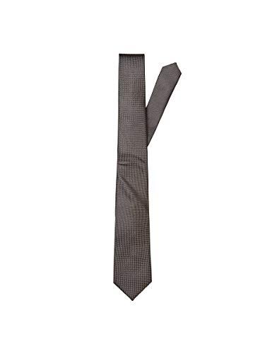 SELECTED HOMME Slhnew Texture Tie 7cm Noos B Cravatta, Marrone Demitasse, Taglia unica Uomo