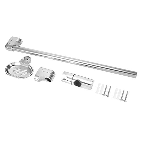 Durable Shower Head Holder Ergonomic Slide Bar Stainless Steel Shower Equipment with Soap Box