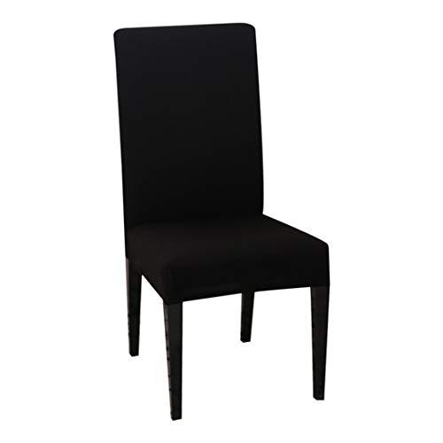 AllRing Funda para silla elástica de un solo color, de spandex, universal, extraíble, para banquete de boda, hotel (negro)
