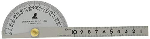 Protractor Stainless Steel with Silver finish 198mm (80g)