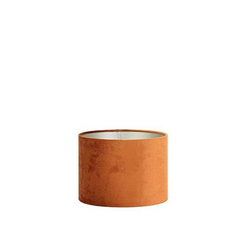 Lampenkap cilinder 30-30-21 cm VELOURS terra
