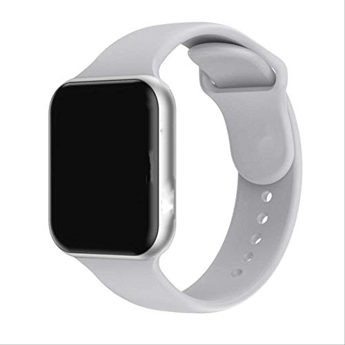 LLOOMMB Pulsera Inteligente Doolnng Iwo Lite Sport Women ECG PPG Smartwatch Smart Watch 4 5 Hombres Fitness Tracker Salud para iPhone Apple Huaweifor XiaomiforBlanco