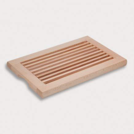 HOFMEISTER® Brotschneidebrett Holz, 40 cm, herausnehmbarere Auffangschale, aus Europa, Schneideunterlage mit Krümelgitter, Buche, stabiles Schneiden, Schneidbrett mit...
