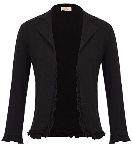 Womens Cropped Bolero Shrug Cardigan Casual Blazer Suit...