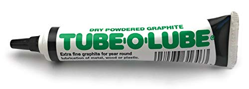 Dry Powdered Graphite Tube-O-Lube for metal wood...