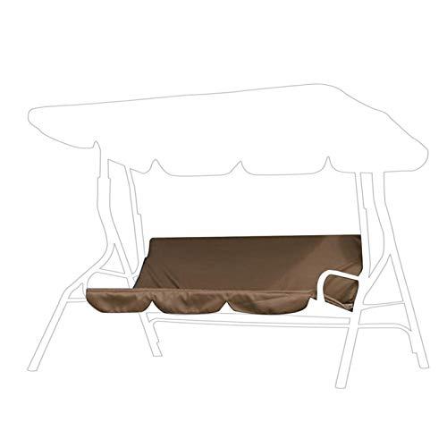 Funda para columpio impermeable Funda para asiento de columpio Funda para silla de 3 asientos a prueba de polvo Funda protectora para hamaca para patio, patio, jardín 59,1 x 19,7 x 3,9 pulgadas(café)