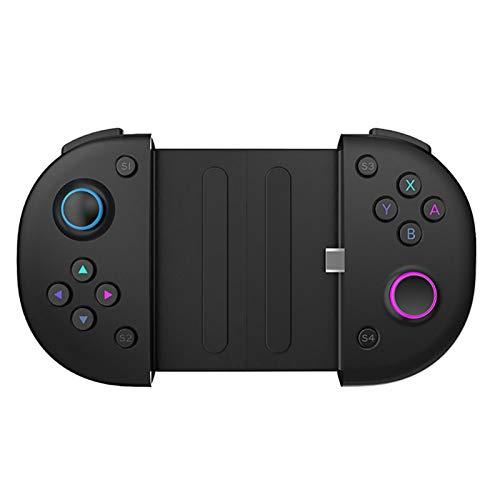 househome - Mando de juego con conexión de tipo C, mando retráctil estable, controlador de juego móvil 2 en 1 con disparadores, mando de juego móvil telescópico para Android