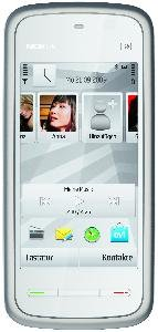 Nokia 5230 Navi Smartphone (8,1 cm (3,2 Zoll) Display, Touchscreen, 2 Megapixel Kamera) white-chrome