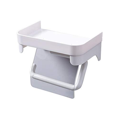 soporte de papel higiénico Soporte de toalla de papel creativo europeo Estante for el hogar Perforador libre Colgante de pared Soporte de papel higiénico impermeable simple compacto y que ahorra espa
