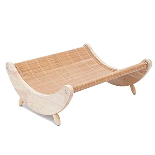 Fujida Pet Cat Nest Rocking Chair Swing Hammock Cooling Bed Mat Wood Safe for Summer