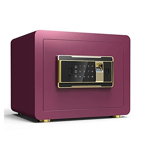 XiYou Caja Fuerte de Seguridad, Caja Fuerte para la Seguridad del hogar Huella Digital Alarma incorporada Caja Fuerte con Llave Digital a Prueba de manipulaciones Caja Fuerte de 35 * 25 * 25 cm