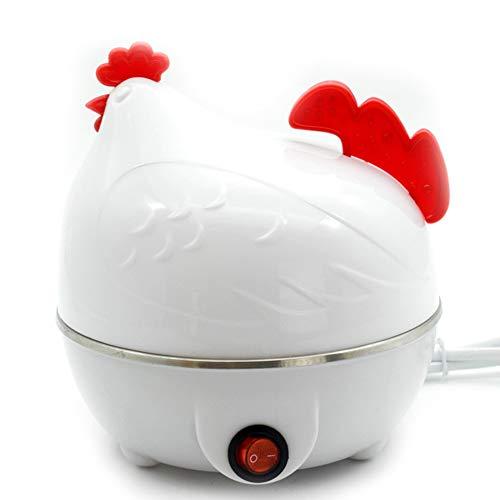Zuhause Eierkocher, Eier Dampfer Huhn geformt Eierkocher Neuheit Küche Kochwerkzeug Heiße Milch Frühstück Ei-Dampfer Elektrischer Eierkocher Weiß Gelb,A