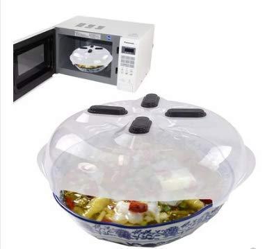 Mikrowellenteller-Abdeckung mit Deckel, Schwebe-Abdeckung, magnetische Lebensmittelabdeckung, BPA-frei, mit Dampfauslässen und Griff, Silikon-Ofenhandschuh, spülmaschinenfest, 30 cm.
