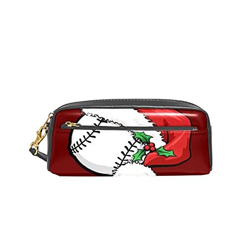 Gorra de béisbol de Papá Noel para la escuela de Navidad, estuche de lápices para niños, bolsa de gran capacidad para maquillaje, cajas de cosméticos de oficina, bolsa de viaje