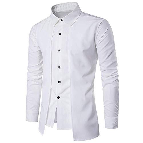 Abrigo Camisa Hombre Cuello Mandarín Steampunk Gótico Vint