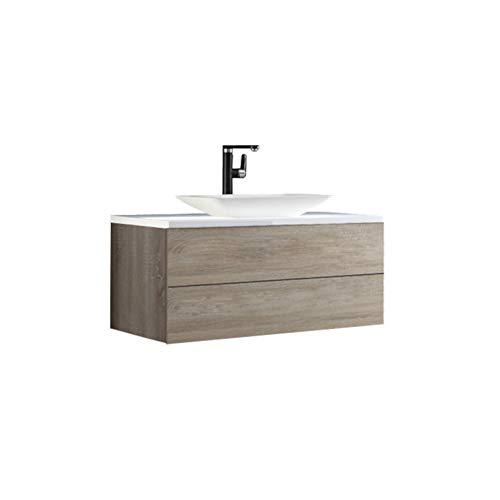 Stoneart BU-1001pro-1 - Mueble de baño (100 x 50 cm), color roble claro