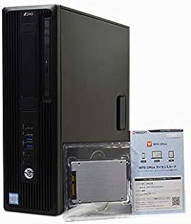 デスクトップパソコン 【Office搭載】 SSD 512GB (新 品 換 装) HP Z240 Workstation 第6世代 Xeon E3 1225 V5 /16GB/512GB/DVDマルチ/NVIDIA Quadro K420/W...