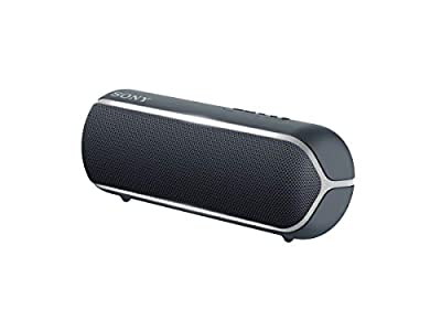 Sony SRS-XB22 Portable Waterproof Wireless Bluetooth Speaker with EXTRA BASS and Lighting - Black by Sony