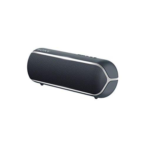 Sony SRS-XB22 - Speaker compatto portatile con Extra Bass, Resistente all'Acqua, Luminoso, Nero