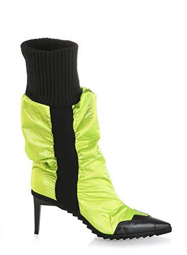 Loriblu 7035 Lime Leather Designer Italiano Inverno Collezione Donna Stivali, verde (verde lime), 40.5 EU