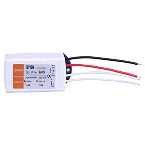 Fuente de alimentación del controlador LED de 12V 18W Controlador AC 90-220V ILFYJRHD