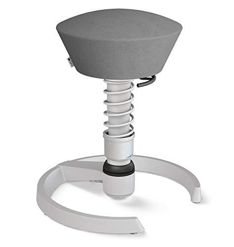 aeris Swopper New Edition Ergonomischer Hocker mit Gleitern – Dynamischer Bürostuhl für einen gesunden Rücken – Vielseitiger Bürohocker und Sitztrainer – 45-59 cm Sitzhöhe, Feder Standard
