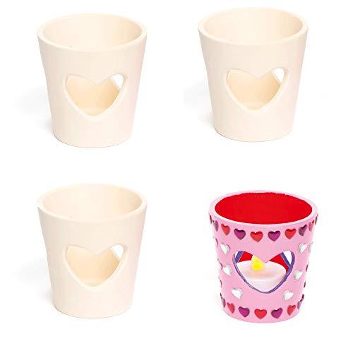 Baker Ross Teelichthalter aus Keramik