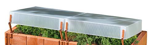Juwel Thermo-Hauben für Hochbeete 130x60 cm (2 Stück, Hauben inkl. Scharnierteile + Lüftungshebel, Ersatzteil für Hochbeete) 20337