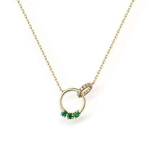 SeeBeaUty Emerald Ketting Edelsteen 14k Goud Sieraden Natuurlijke Schat Dames Mode Elegante Ornament Temperament Sieraden