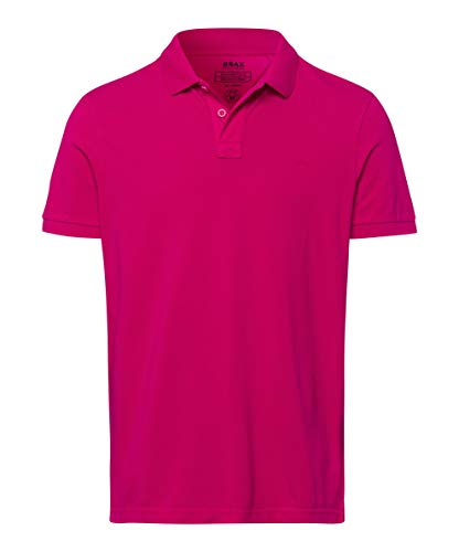 BRAX Herren Style Pelé Garment Dye Piqué Poloshirt, Rot (Dragonfruit 48), XXL EU