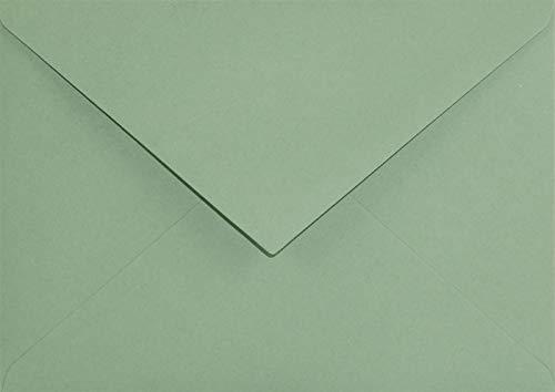 100 Grün DIN C6 Kuverts Spitzklappe ohne Fenster 114x162mm120g Keaykolour Matcha Tea farbige Briefumschläge Eco für Einladungs-Karten Geburtstags-Karten Glückwunsch-Karten Hochzeits-Karten Grußkarten
