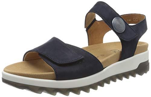 Gabor Shoes Damen Comfort Basic Riemchensandalen, Blau (Blue 46), 38 EU