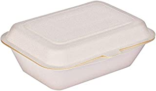 Ecoware® 100% Natural, Biodegradable, Compostable, Ecofriendly, Safe & Hygienic Disposable 600 ML Takeaway Box with Lid (P...