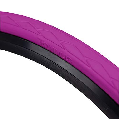 Tannus Tire Cubierta 700x28c (28-622) Semi Slick | Neumático 100% Antipinchazos Bici Carretera, Color Vegas (Fucsia), Dureza Regular