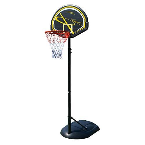 HFRTKLSAW Aro de baloncesto ajustable de altura, 1,65 – 2,25 m al aire libre libre de pie portátil ajustable para niños