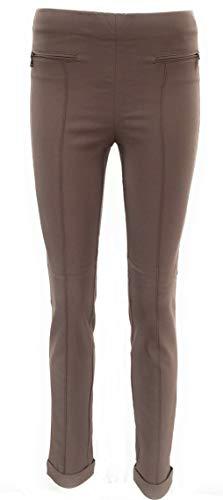 Stehmann stretchbroek dames Imela relaxed taille slim leggings (44, taupe)