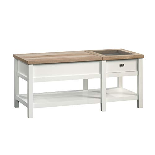 Sauder Cottage Road Lift-top Coffee Table, Soft White finish
