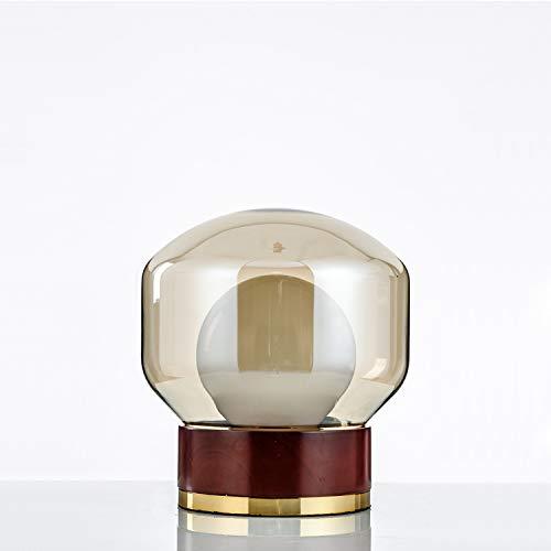 Hanglamp wandlamp D25 x H28 cm tafellamp Luxe Nordic creatief van massief hout bureaulamp woonkamer salontafel glas nachtlamp Dormit
