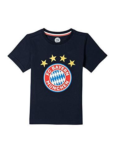 FC Bayern München T-Shirt Logo Navy Kleinkinder, 104