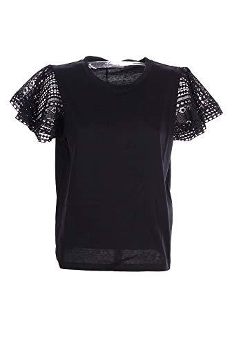 Twin Set Twinset blouse zwart met kant voor dames model 211TT22A - zwart - XL