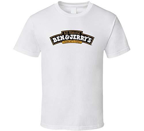 YUANLI Ben & Jerry - Camiseta de regalo, diseño de helado, color blanco