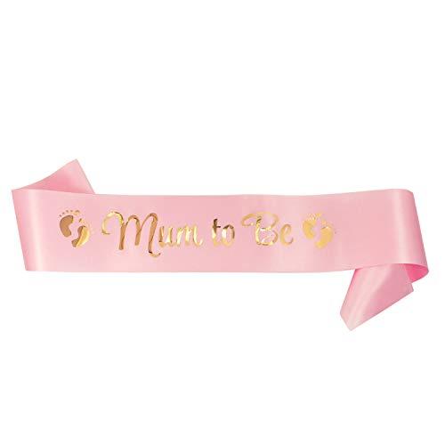 Oblique Unique® Mum to Be Schärpe Baby Shower Party Schwangerschaft Mutterschaft werdende Mutti Mama - Farbe wählbar (Rosa)
