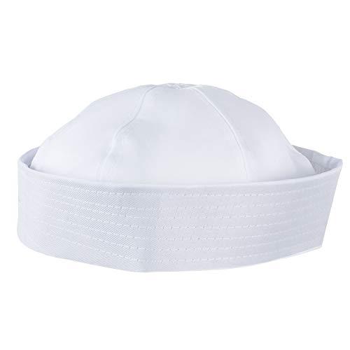 Funny Party Hats Yacht Captain Hat  Sailor Cap, Skipper Hat, Navy Marine Hat - Adjustable - Costume Accessories (White) (Sailor Hat)