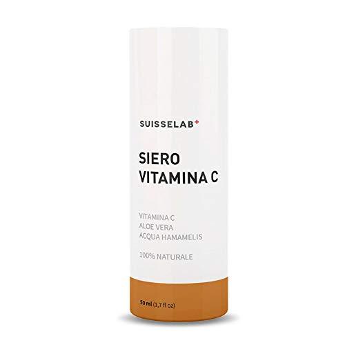 Suisse Lab - Suero Facial Con Vitamina C - El Mejor Suero Facial Para Prevenir las arrugas y las manchas - 100% Natural - Made in Italy – 50ml