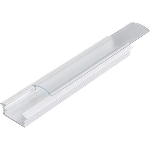 KIT de 6 x 1 mètre P1 Profilé en aluminium BLANC pour les bandes LED avec couvercles transparents, bouchons et clips de fixation