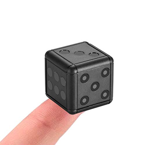 IYUNDUN Mini Telecamera Nascosta HD 1080P, DVR per Auto Registratore Sportivo Night Vision Dadi Cam, per Riunioni di Lavoro E Vita (Nero)