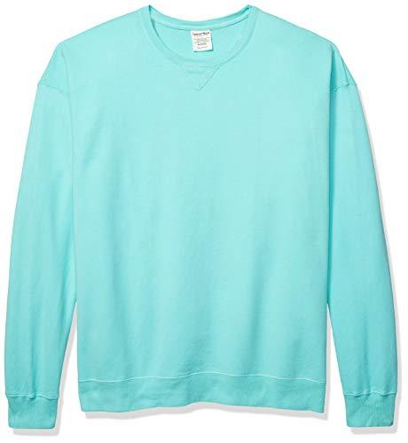 Hanes Men's ComfortWash Garment Dyed Fleece Sweatshirt, Mint, X Large
