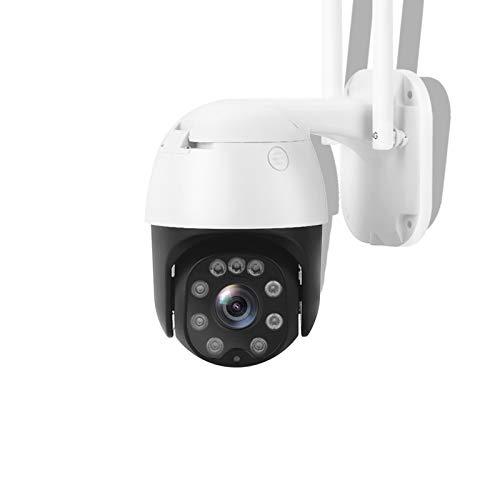 SECUEYE Cámara IP domo 1080P WiFi Pan/Inclinación 5X Zoom 100ft Visión Nocturna Seguimiento automático de audio de 2 vías IP65 resistente a la intemperie ONVIF Grabación de tarjeta SD