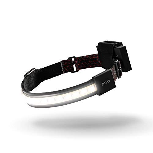 LIGHTBAR Pro | LED Headlamp, 500 Lumens, Waterproof Rated, Rechargeable Battery, Red Light Mode, Camping Running Biking Fishing Construction