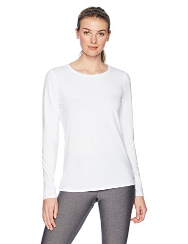 Amazon Essentials Tech Stretch Long-Sleeve T athletic-shirts, weiß, US M (EU M - L)